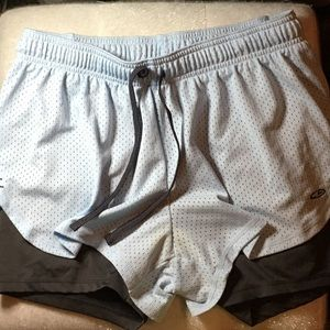 Blue and grey champion shorts size M